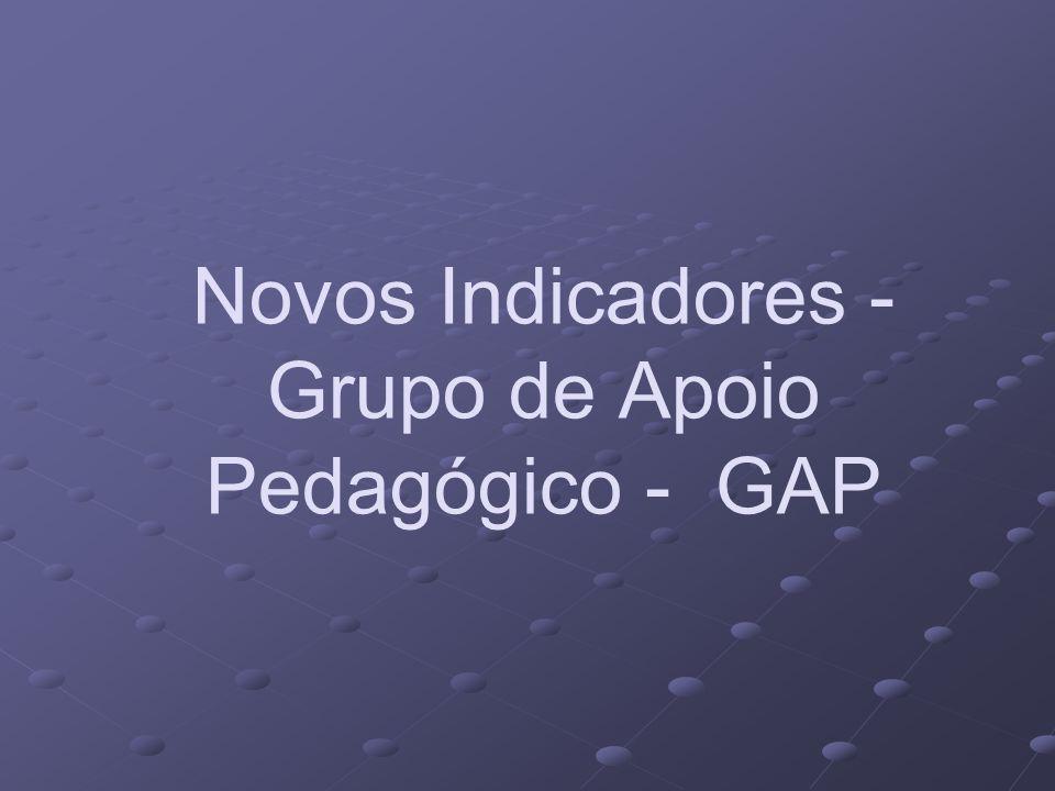 Novos Indicadores - Grupo de Apoio Pedagógico - GAP