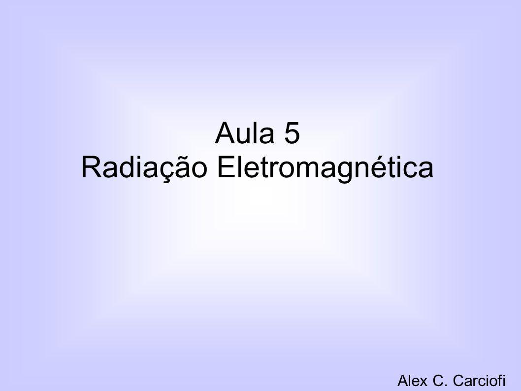 Aula 5 Radiação Eletromagnética Alex C. Carciofi