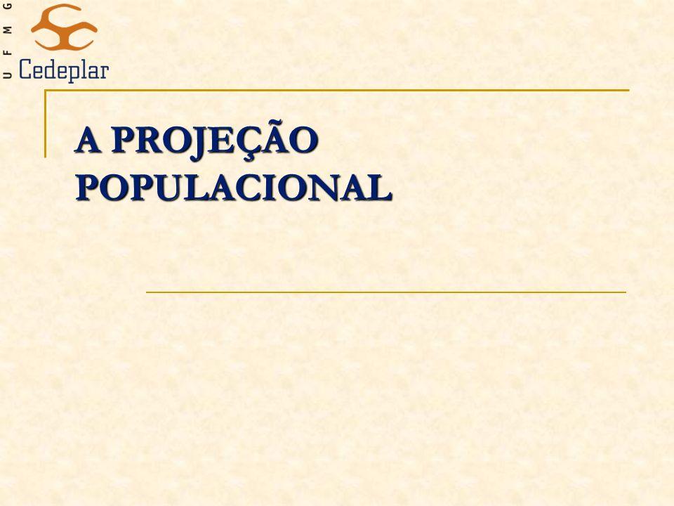 A PROJEÇÃO POPULACIONAL