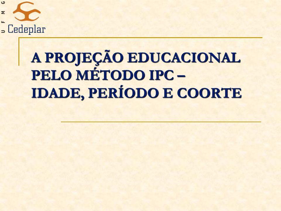 A PROJEÇÃO EDUCACIONAL PELO MÉTODO IPC – IDADE, PERÍODO E COORTE