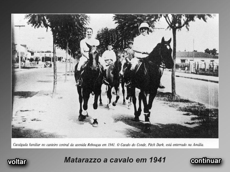 Matarazzo a cavalo em 1941