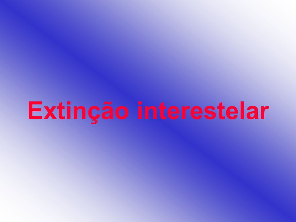 Extinção interestelar