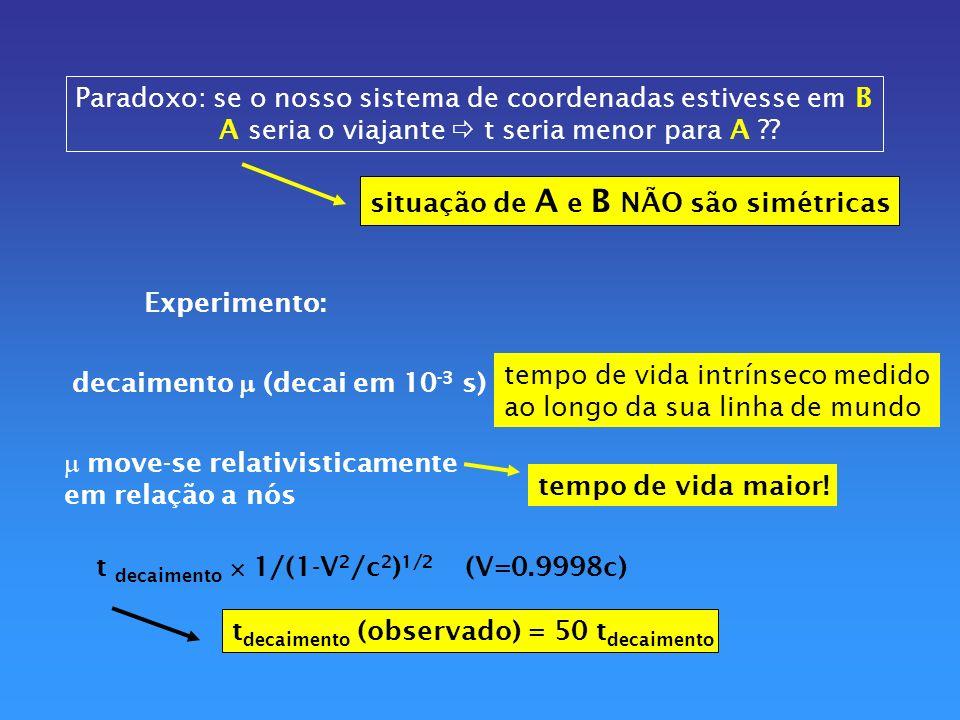 Princípio da equivalência aplicável só a regiões de volume extremamente pequenos...