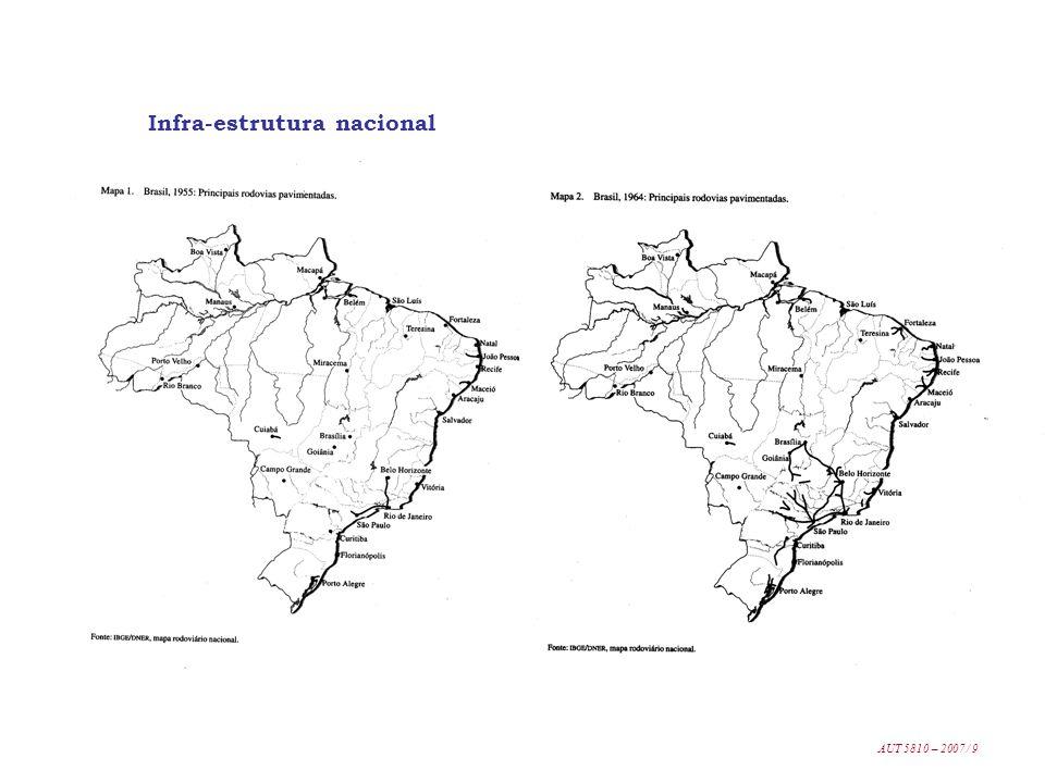 Infra-estrutura nacional AUT 5810 – 2007 / 9