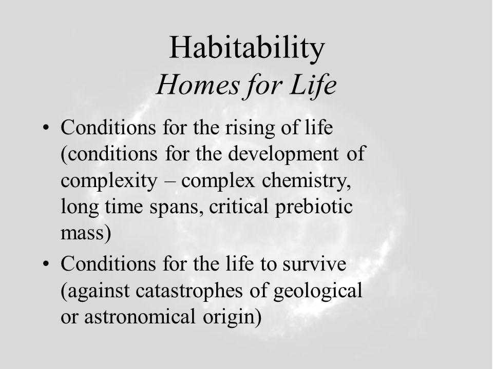 Three Levels of Habitability Biophilic Cosmos Galactic Habitable Zone Stellar Habitable Zone