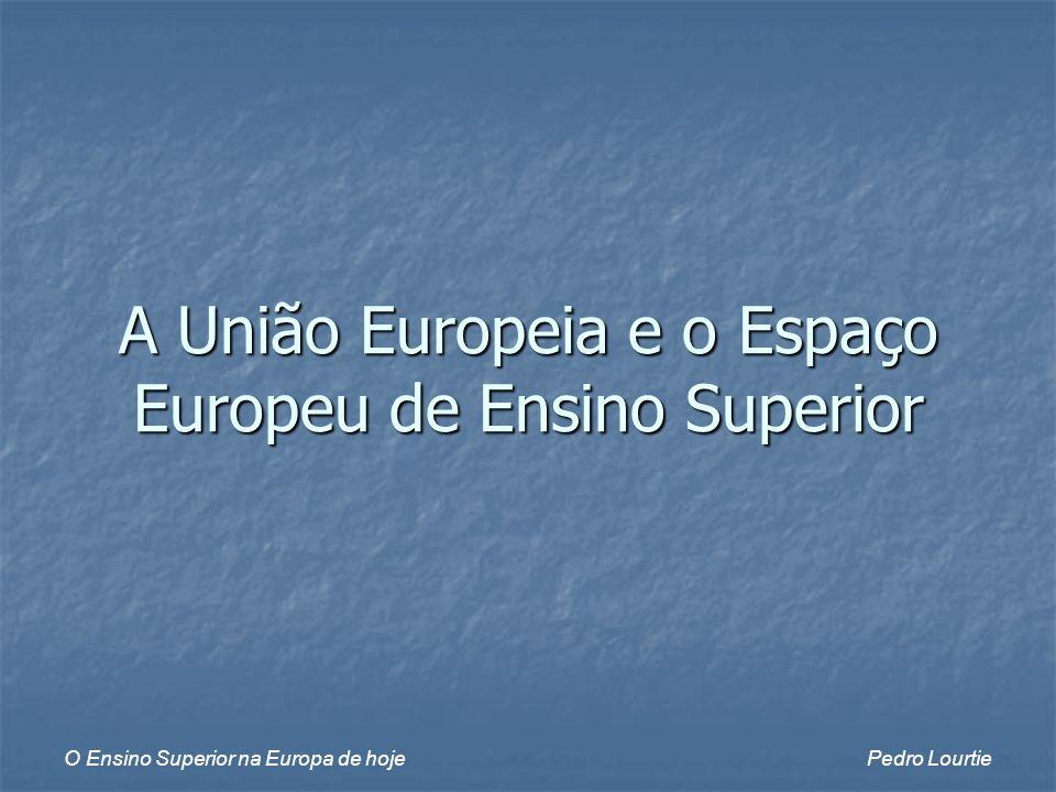 O Ensino Superior na Europa de hojePedro Lourtie A União Europeia e o Espaço Europeu de Ensino Superior