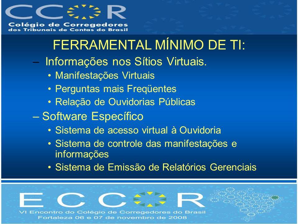 FERRAMENTAL MÍNIMO DE TI: – Informações nos Sítios Virtuais.