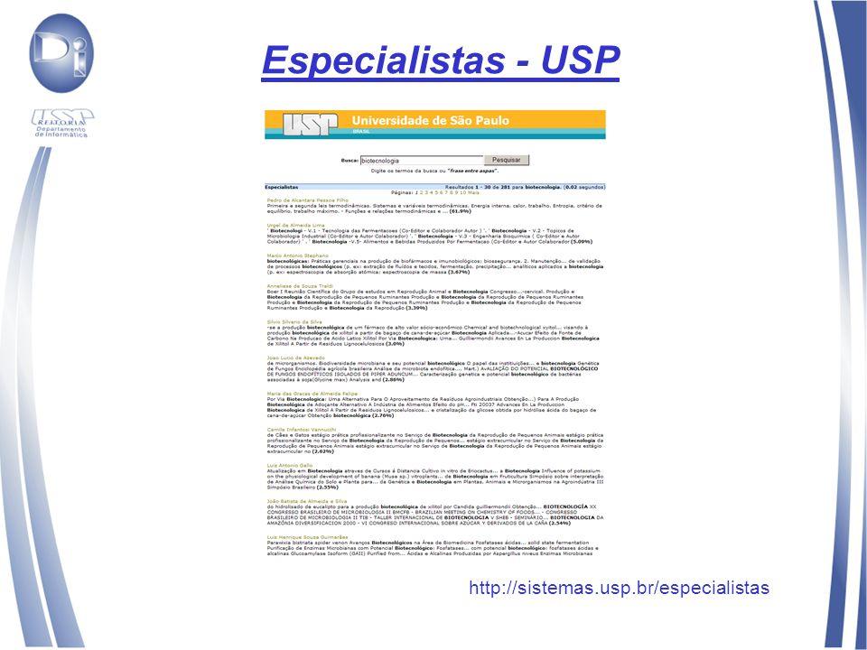 Especialistas - USP http://sistemas.usp.br/especialistas