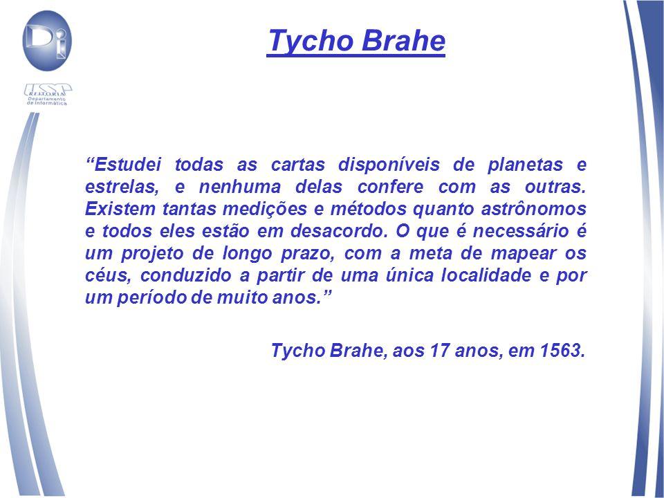 Tycho Brahe Estudei todas as cartas disponíveis de planetas e estrelas, e nenhuma delas confere com as outras.