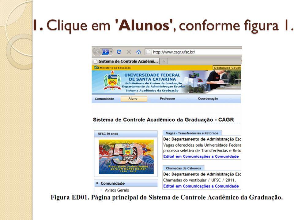 1. Clique em 'Alunos', conforme figura 1.