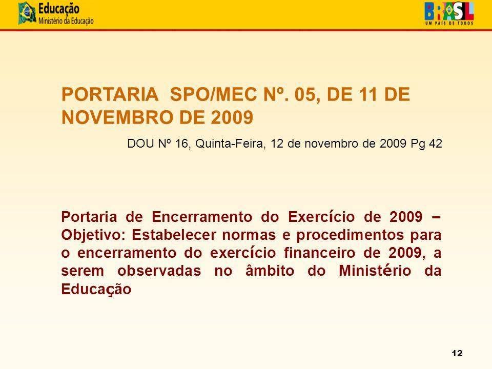 12 PORTARIA SPO/MEC Nº.