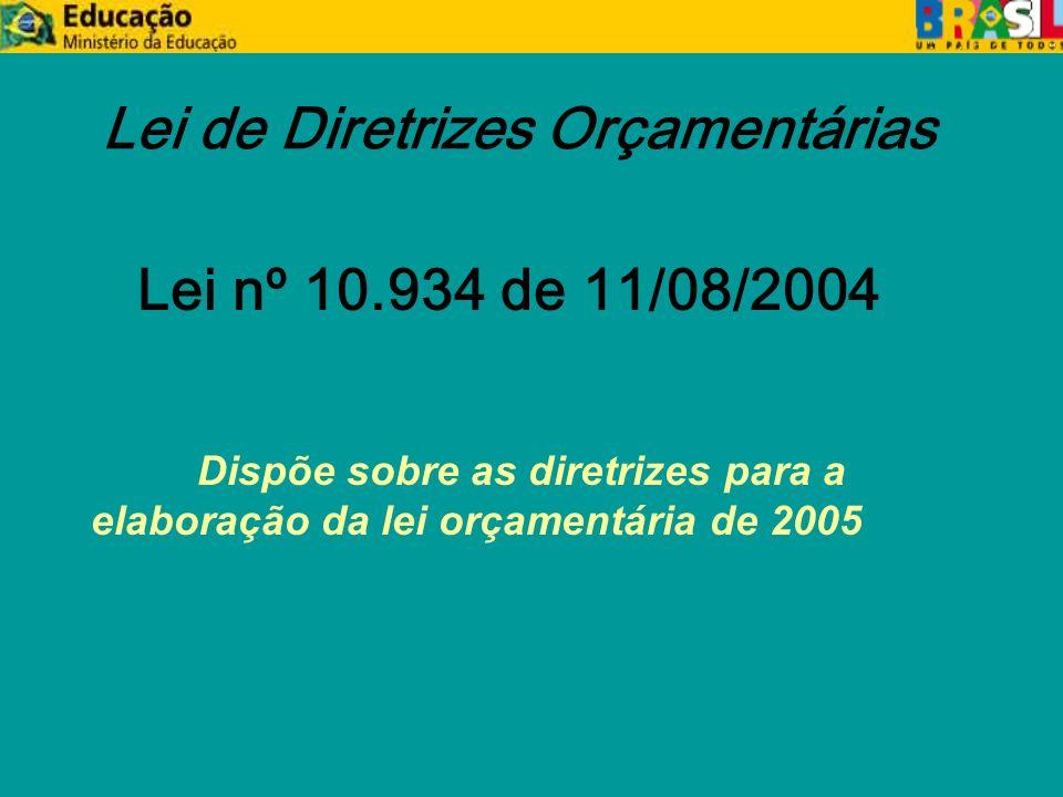 Decreto Nº 5.379, de 25/02/2005 zLimites Orçamentários yPortaria Interministerial nº 51, de 11 de março de 2005.