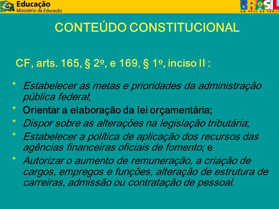 Obrigações Constitucionais ou Legais da União Art.