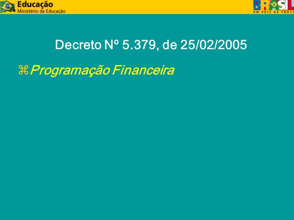 Decreto Nº 5.379, de 25/02/2005 zProgramação Financeira