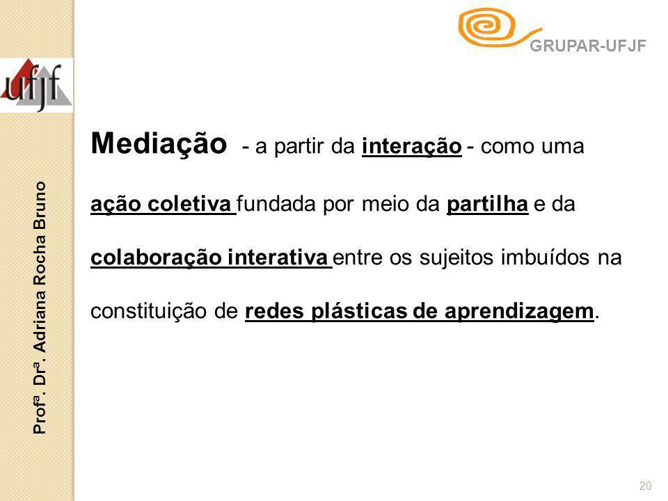 Mediação - a partir da interação - como uma ação coletiva fundada por meio da partilha e da colaboração interativa entre os sujeitos imbuídos na const