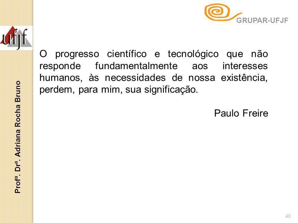 40 O progresso científico e tecnológico que não responde fundamentalmente aos interesses humanos, às necessidades de nossa existência, perdem, para mi