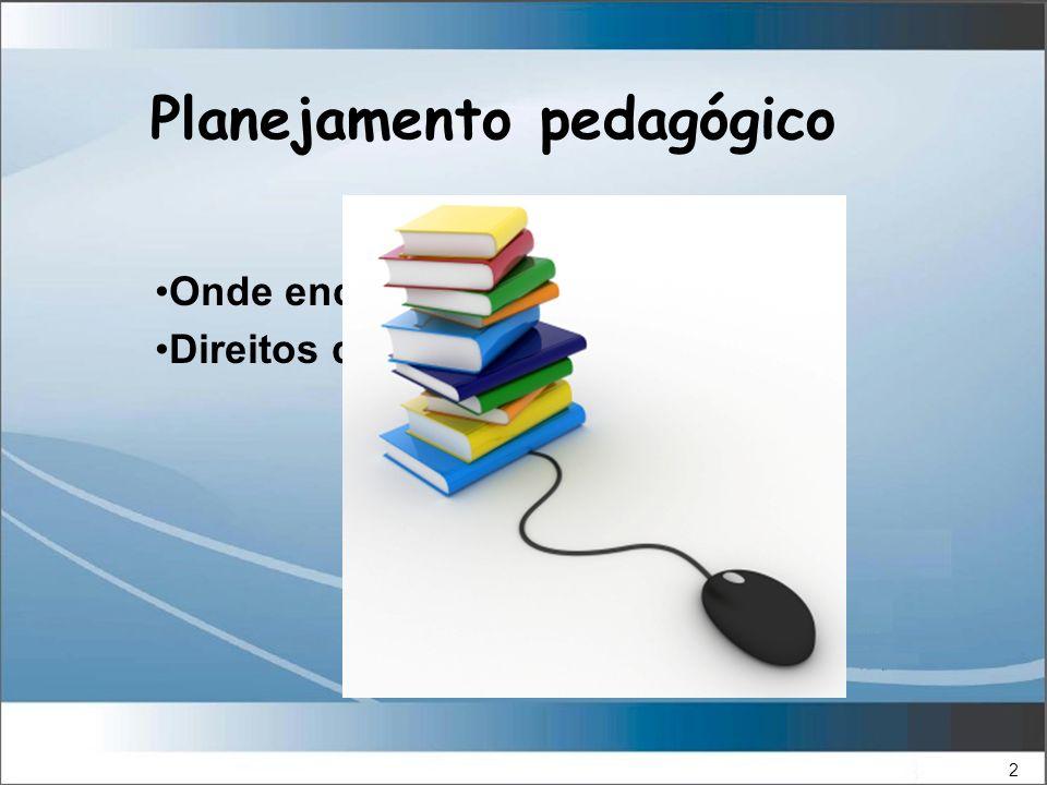 2 Onde encontrar Direitos de uso Planejamento pedagógico