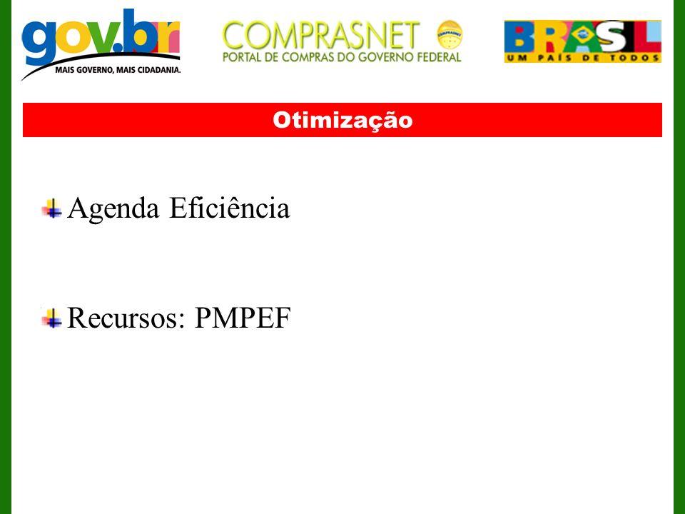 Otimização Agenda Eficiência Recursos: PMPEF