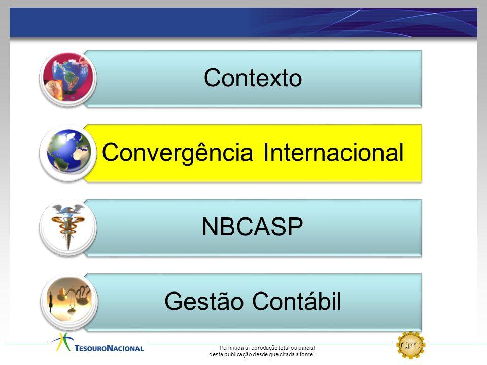 Contexto Convergência Internacional NBCASP Gestão Contábil