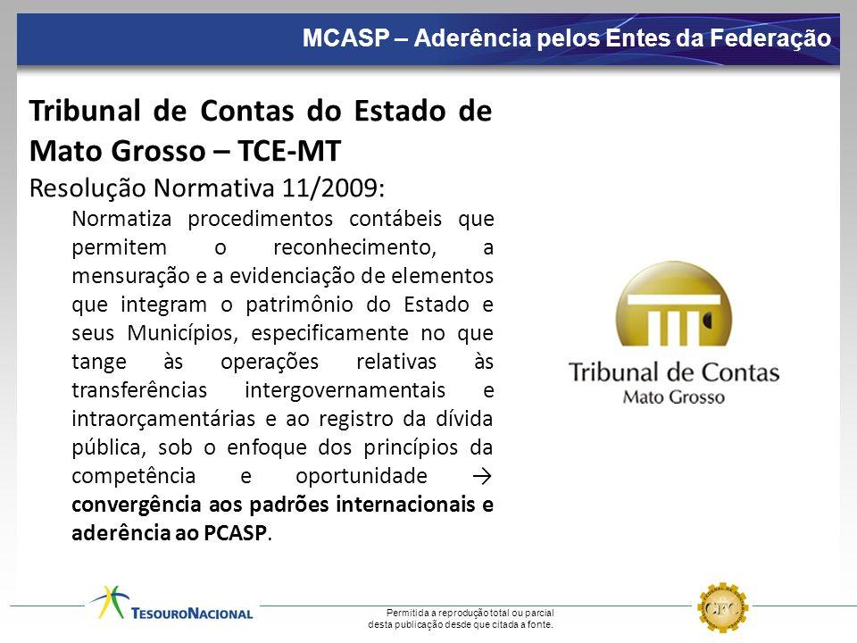 Permitida a reprodução total ou parcial desta publicação desde que citada a fonte. Tribunal de Contas do Estado de Mato Grosso – TCE-MT Resolução Norm