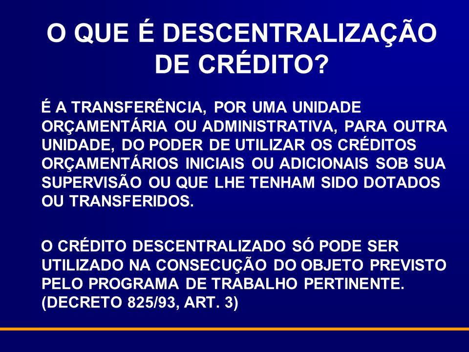 O QUE É DESCENTRALIZAÇÃO DE CRÉDITO.