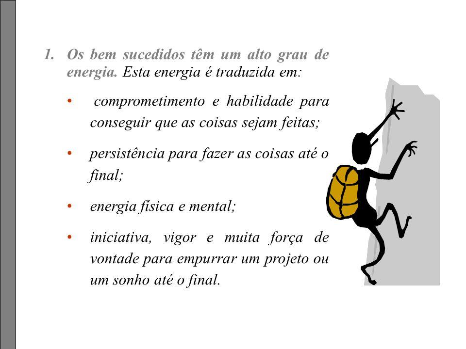 Feito por luannarj@uol.com.br em 25.01.04luannarj@uol.com.br Cinco Características dos Bem-Sucedidos (texto extraído do livro Socorro, Tenho medo de V