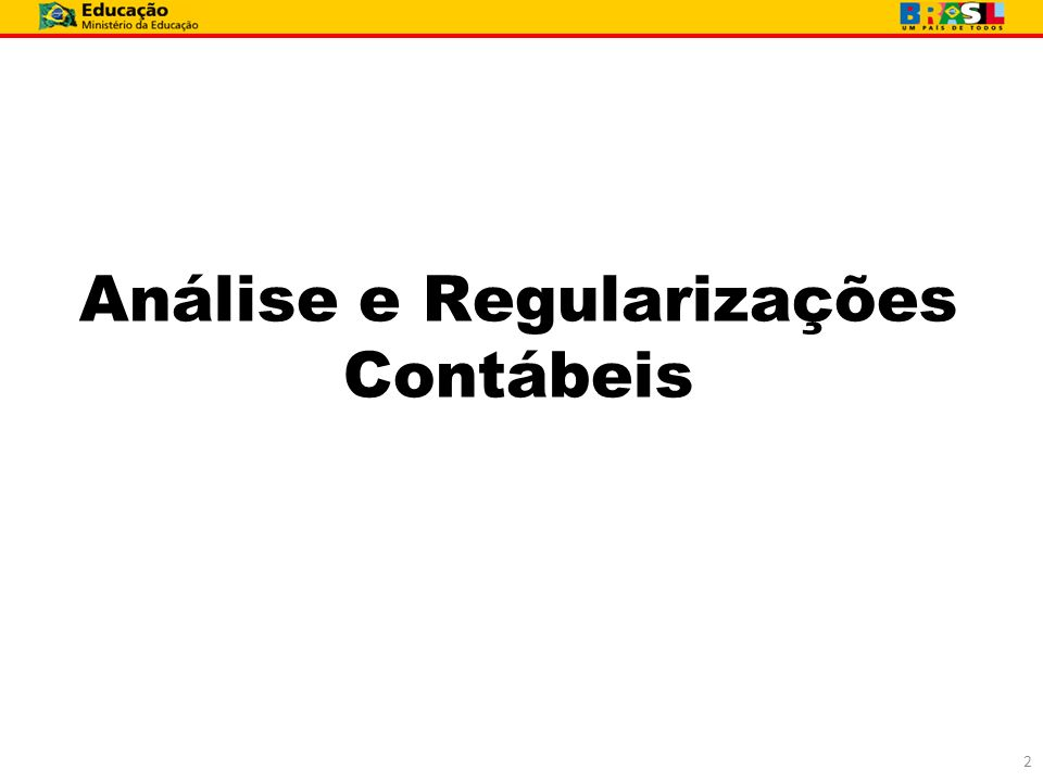 Análise e Regularizações Contábeis 2