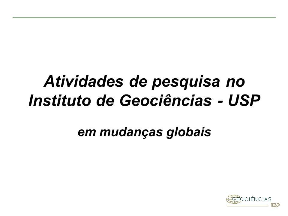 Atividades de pesquisa no Instituto de Geociências - USP em mudanças globais