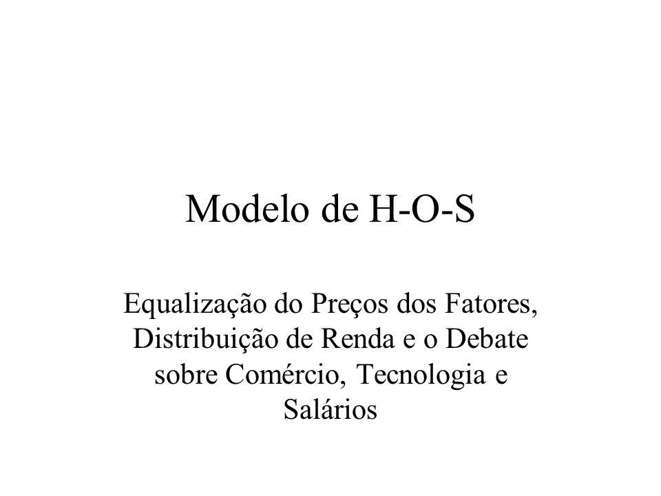 Modelo de H-O-S Equalização do Preços dos Fatores, Distribuição de Renda e o Debate sobre Comércio, Tecnologia e Salários