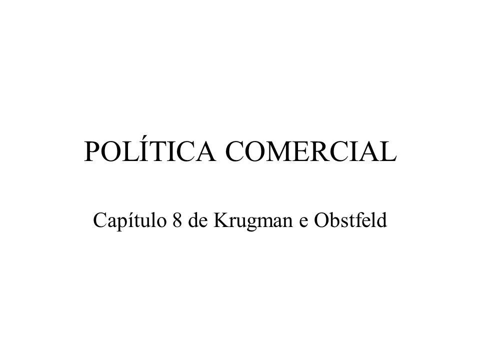 POLÍTICA COMERCIAL Capítulo 8 de Krugman e Obstfeld