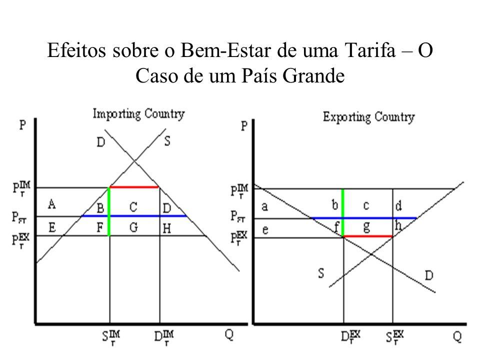 Efeitos sobre o Bem-Estar de uma Tarifa – O Caso de um País Grande
