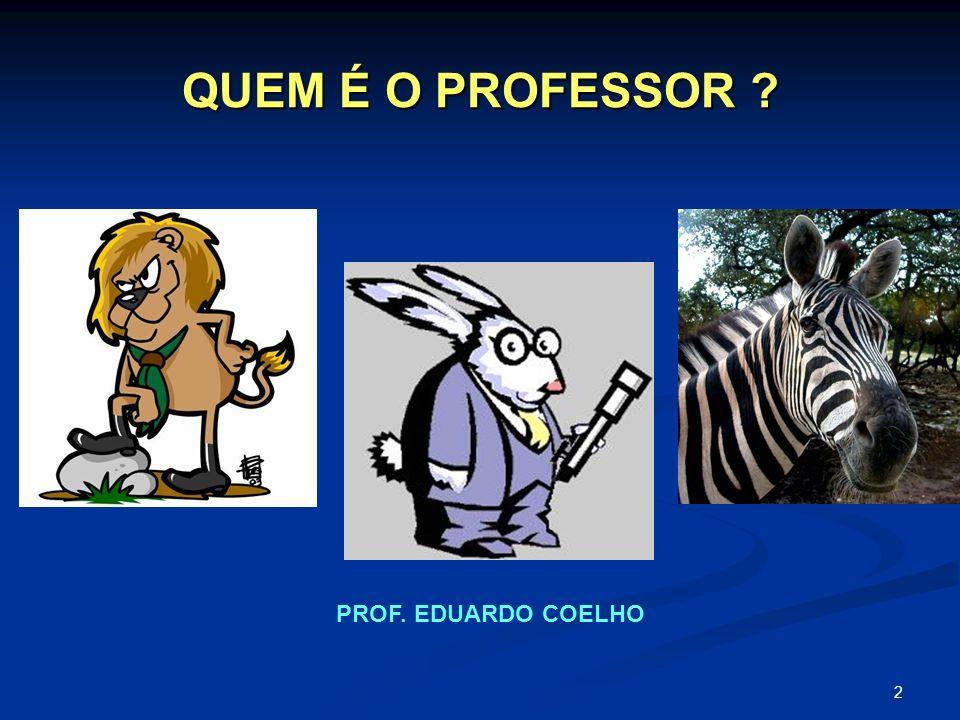 2 QUEM É O PROFESSOR ? PROF. EDUARDO COELHO