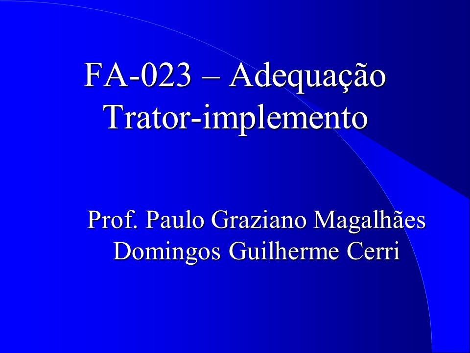 FA-023 – Adequação Trator-implemento Prof. Paulo Graziano Magalhães Domingos Guilherme Cerri