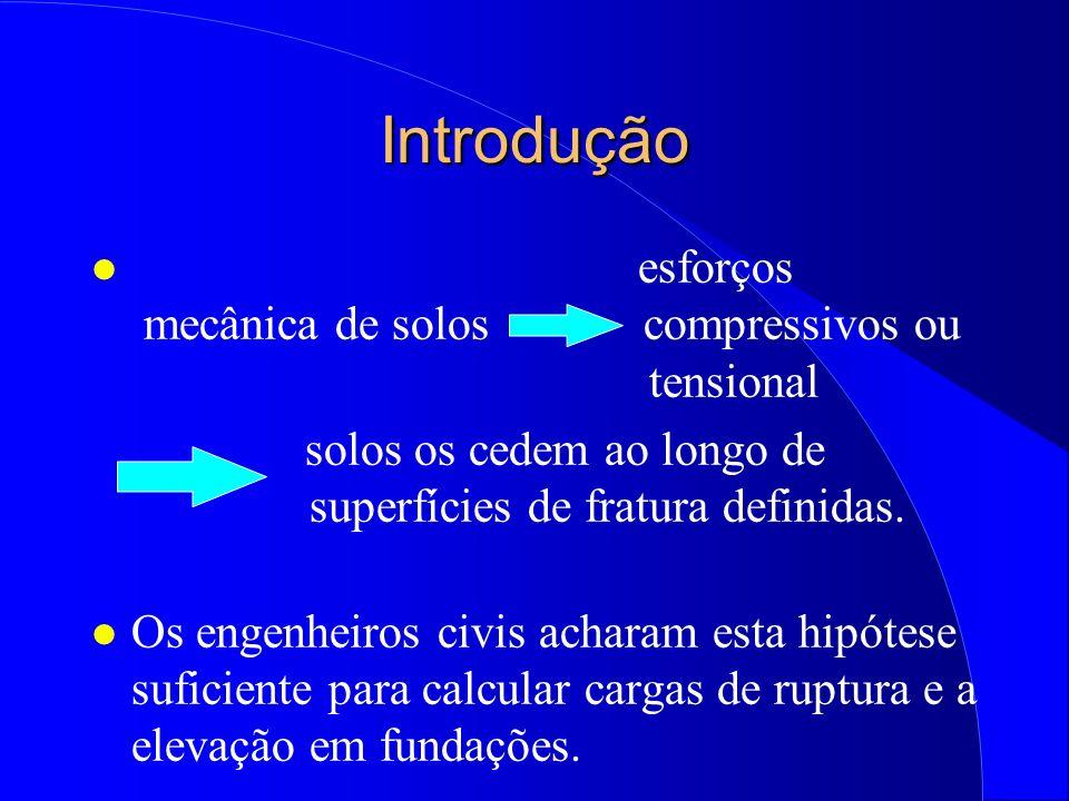 Mecânica do Solo (Exercício) l Na figura é mostrado um elemento de um solo arenoso sem coesão no estado de ruptura.