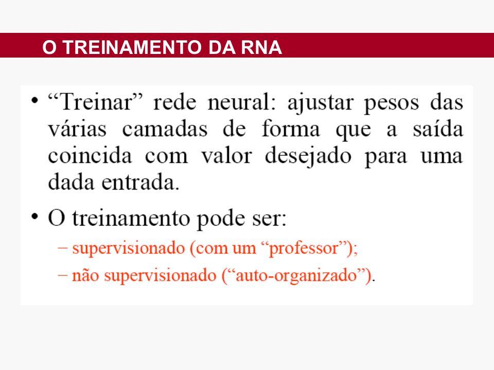 O TREINAMENTO DA RNA