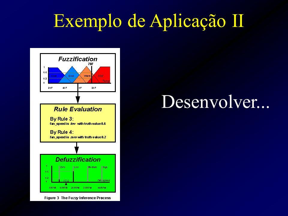 Exemplo de Aplicação II Desenvolver...