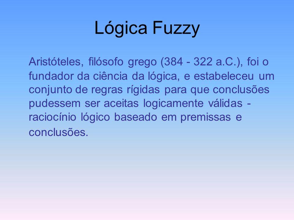 Lógica Fuzzy Baseia-se no conceito de valores parcialmente verdadeiros, variando de completamente verdadeiro a completamente falso e tem se tornado um
