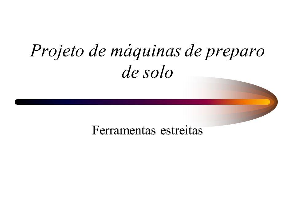 Projeto de máquinas de preparo de solo Ferramentas estreitas