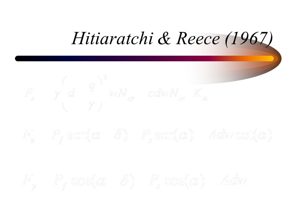 Hitiaratchi & Reece (1967)