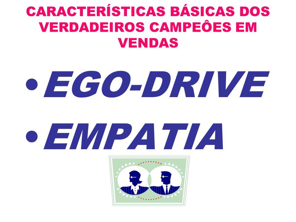CARACTERÍSTICAS BÁSICAS DOS VERDADEIROS CAMPEÔES EM VENDAS EGO-DRIVE EMPATIA