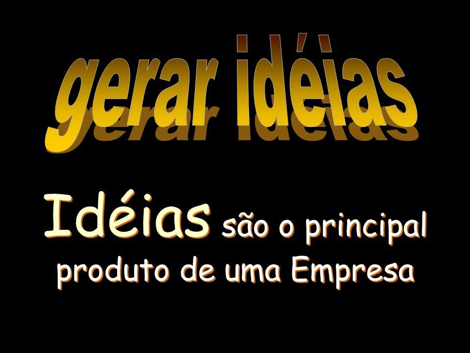 Idéias são o principal produto de uma Empresa