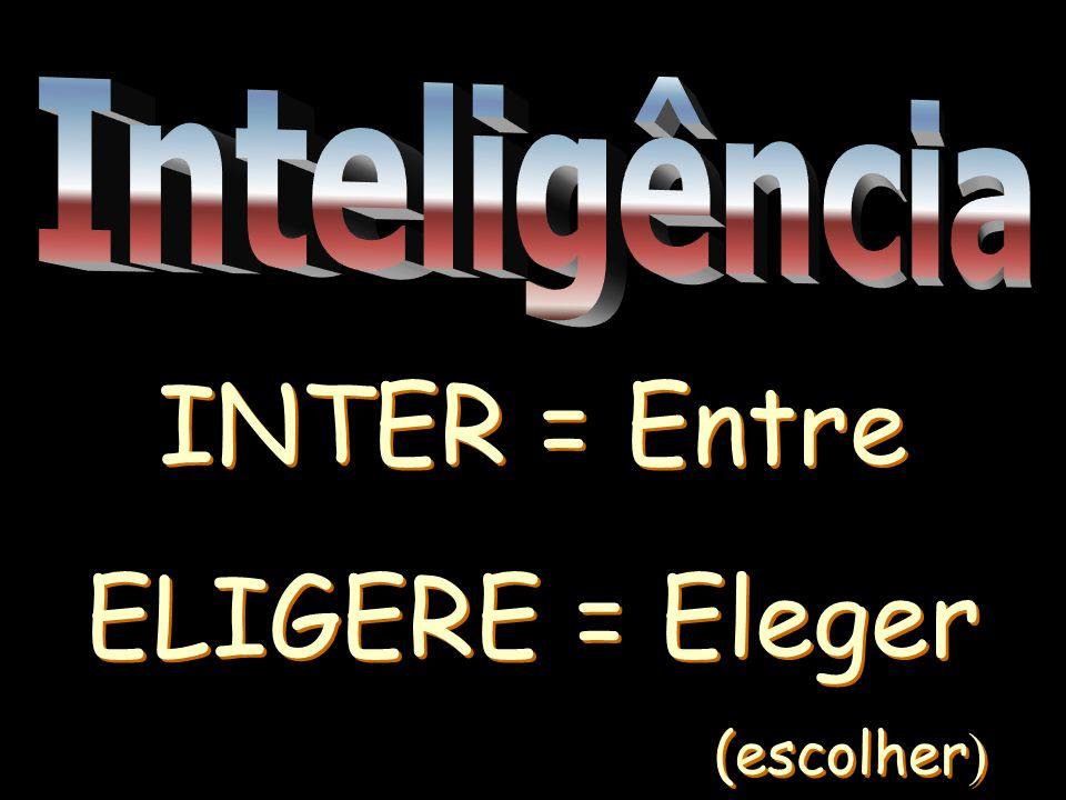 INTER = Entre ELIGERE = Eleger (escolher ) INTER = Entre ELIGERE = Eleger (escolher )