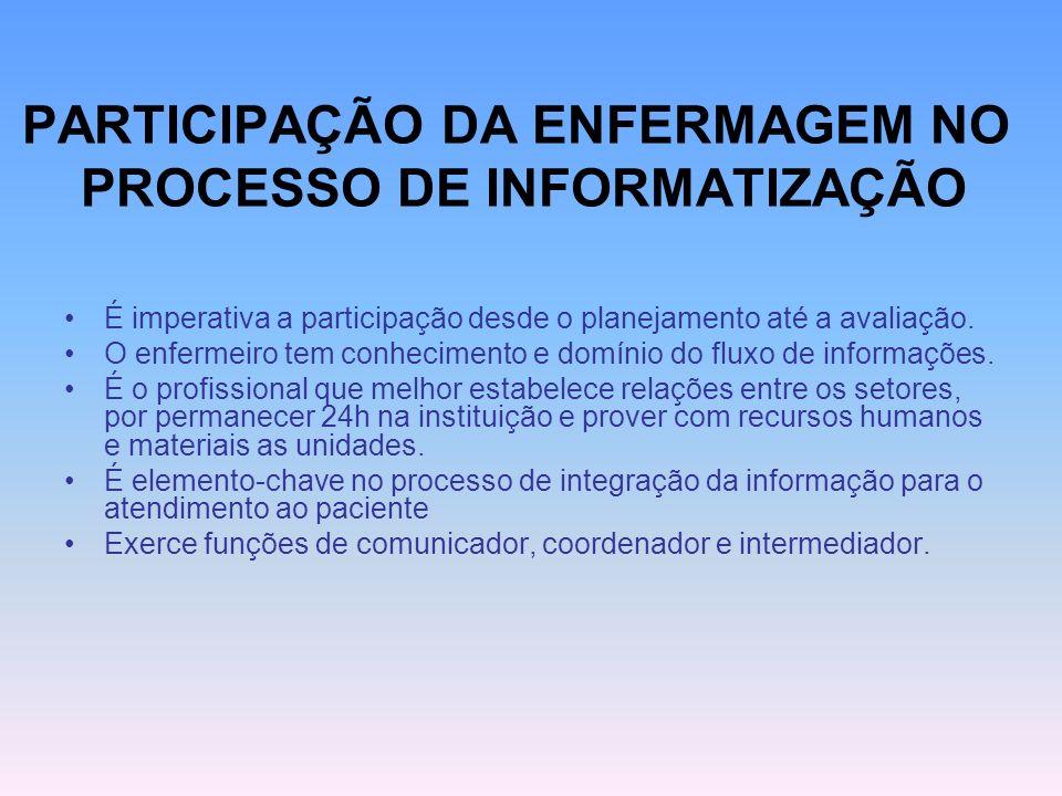 SISTEMAS DE INFORMAÇÃO HOSPITALAR Criação de um arquivo acumulativo de cada paciente, com facilidade de manutenção e acesso.