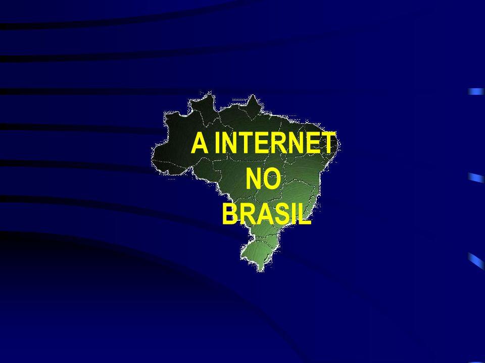 Década de 90 A partir de 1993 a INTERNET deixou de ser uma instituição de natureza puramente acadêmica e passou a ser explorada comercialmente, quer p