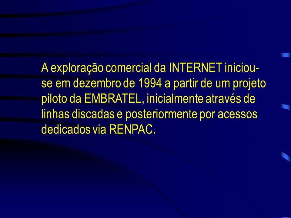 Em 1989 foi criada, pelo Ministério da Ciência e Tecnologia, a RNP (Rede Nacional de Pesquisa), uma instituição com o objetivo de iniciar e coordenar