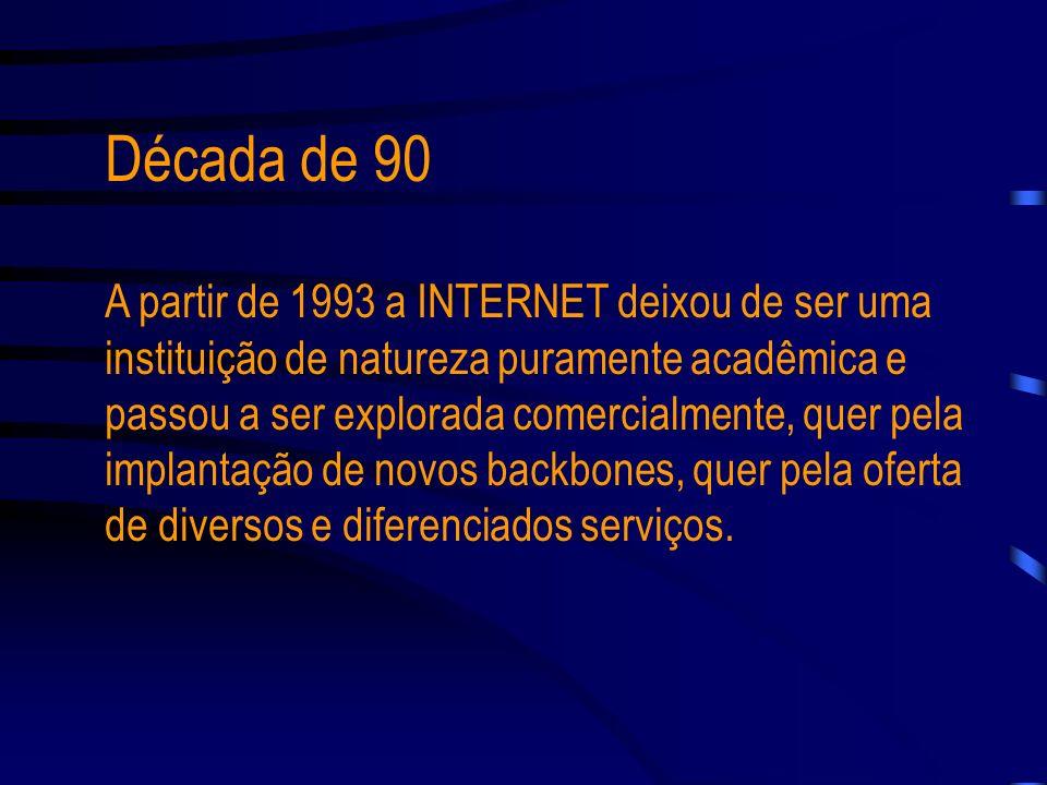 Em 1985, a entidade norte-americana interligou os supercomputadores de seus centros de pesquisa, resultando na rede conhecida como NSFNET, sendo conec