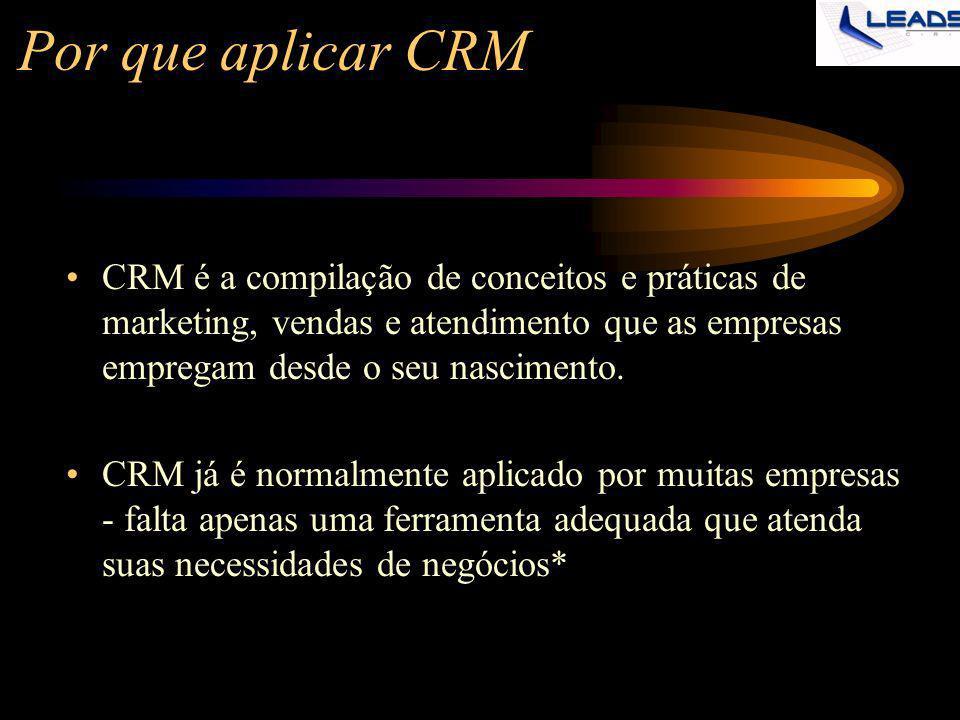 Por que aplicar CRM CRM é a compilação de conceitos e práticas de marketing, vendas e atendimento que as empresas empregam desde o seu nascimento. CRM