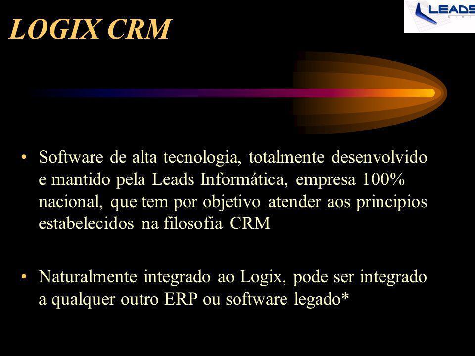 LOGIX CRM Software de alta tecnologia, totalmente desenvolvido e mantido pela Leads Informática, empresa 100% nacional, que tem por objetivo atender a