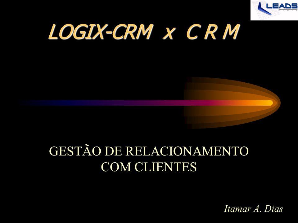 LOGIX-CRM x C R M GESTÃO DE RELACIONAMENTO COM CLIENTES Itamar A. Dias