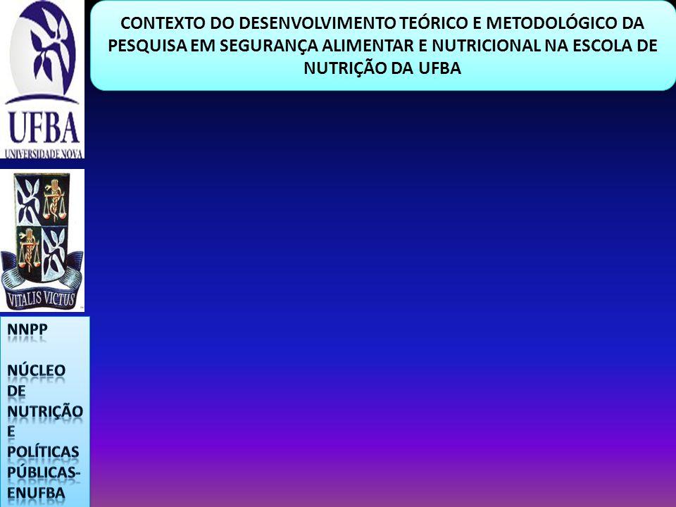 CONTEXTO DO DESENVOLVIMENTO TEÓRICO E METODOLÓGICO DA PESQUISA EM SEGURANÇA ALIMENTAR E NUTRICIONAL NA ESCOLA DE NUTRIÇÃO DA UFBA